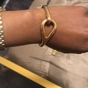 Jewelry - Italian knot 18k gold plated bracelet .